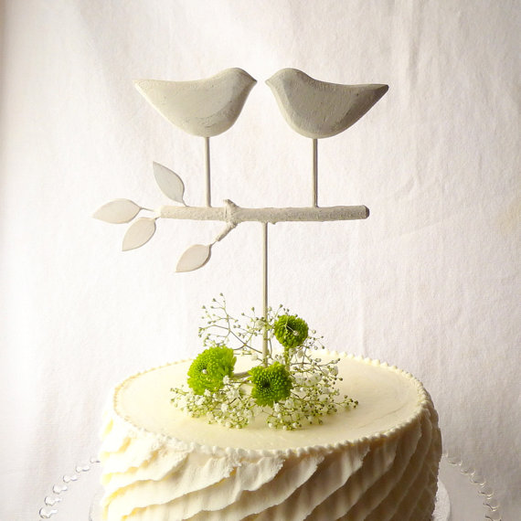 White Wedding Cake Topper Bird Love Birds For Your Rustic And Shipping In 3 5 Business Days On Every Order