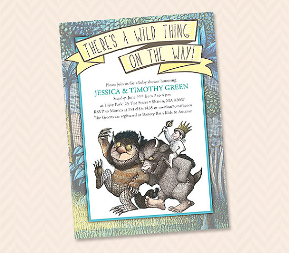Where The WIld Things Are Inspired Invitation Design Baby Shower