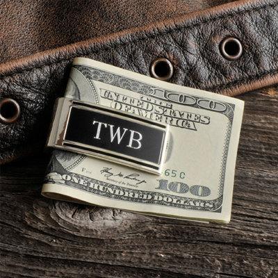 Hochzeit - Millionaire Silver Money Clip Engraved Gift Idea Groomsmen Gifts