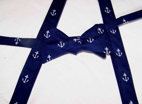 1481258d55b0 For The Little Guy Suspenders and bow tie set - Out to Sea by Sarah Jane - Boy's  Bow Tie - pre-tied - Clip on - Ring Bearer