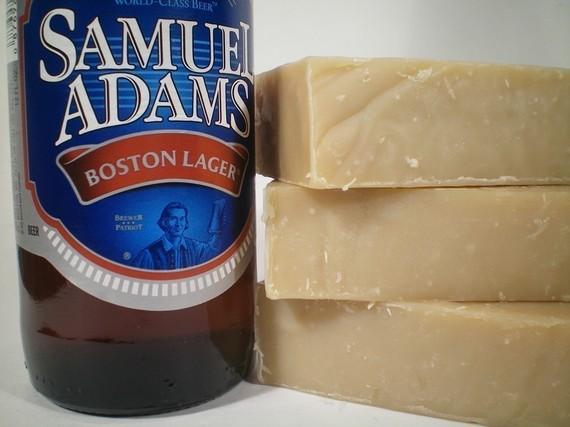 Hochzeit - Sammy Boy Beer Soap -  Made with Samuel Adams Beer - Fun gift for Dad and Groomsmen