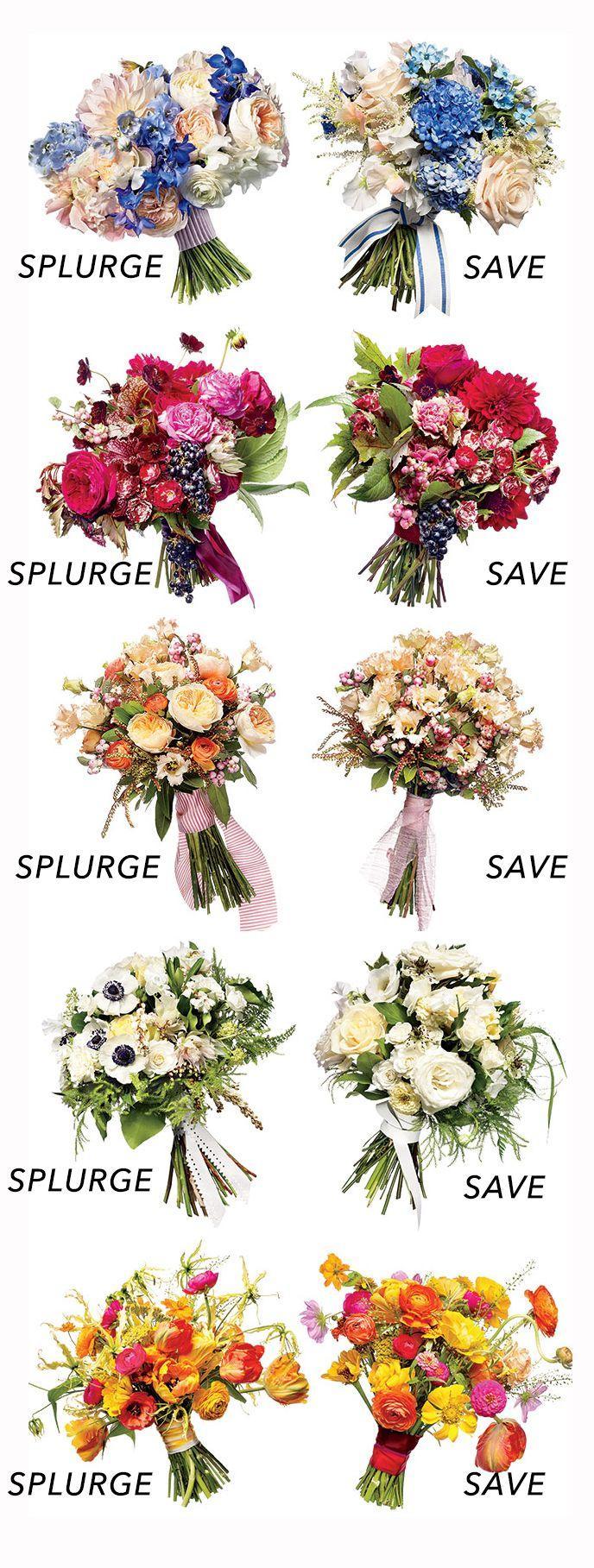 Hochzeit - Save Vs. Splurge Wedding Bouquets