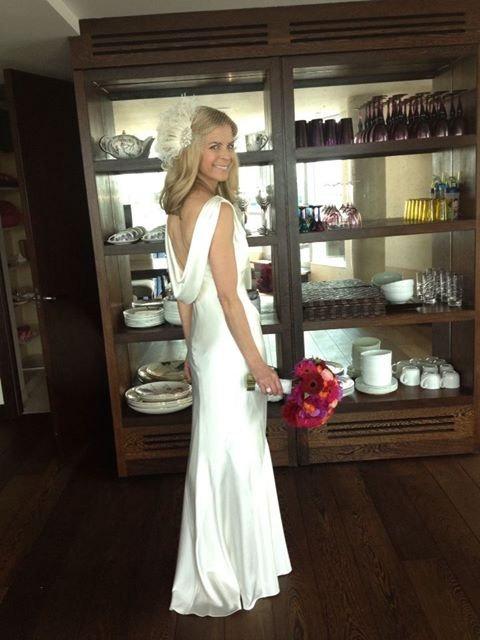 Rhinestone Feather Wedding Dress