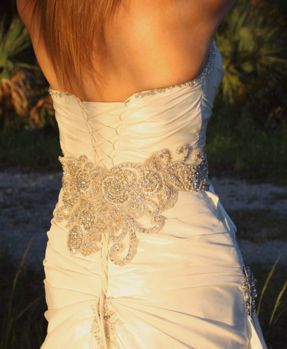 Bridal Beaded Sash &Swarovski Crystallized Bridal Belt #2234114 ...