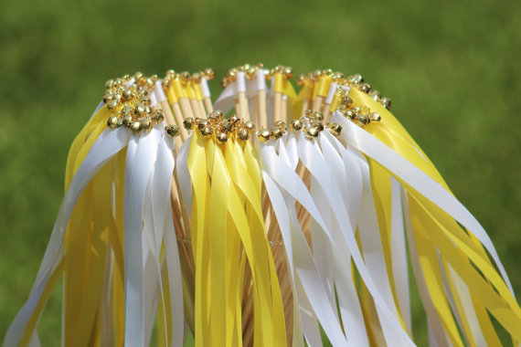 150 Wedding Ribbon Wands With Bells Party Ribbon Streamers Party