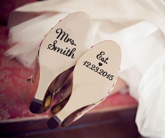 زفاف - Custom Wedding Shoe Decal