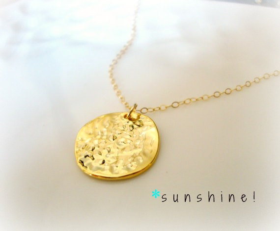 plated cc mirror gold chanel round vintage large product pendant necklace authentic