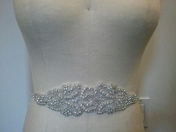 Свадьба - SALE - Wedding Belt, Bridal Belt, Sash Belt, Crystal Rhinestone - Style B1001