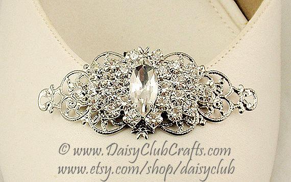 زفاف - Rhinestones Shoe Clips, Bridal Shoe Clips, Weddings, Made in USA in our own studio