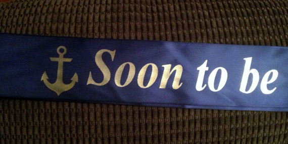custom made personalized wrap sash pageant sash wedding sash bridal party or baby shower sash nautical themed