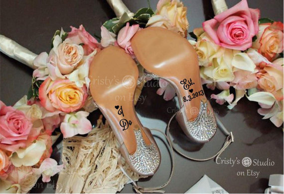 Свадьба - I Do/ Date Wedding Shoe Decals