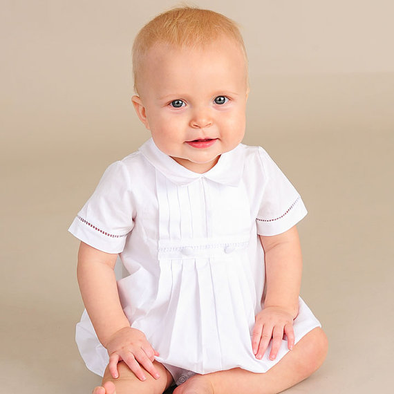 93ae427ca David Cotton Baby Boy's Christening, Baptism Or LDS Blessing Outfit ...