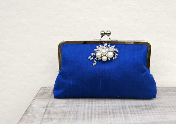 Royal Blue Clutch Bags