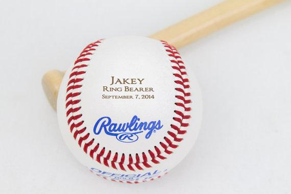 Wedding - Ring Bearer Gift, Baseball, Personalized Gift, Wedding Party Favor, Custom Groomsmen and Best Man Gift, Ring Bearer