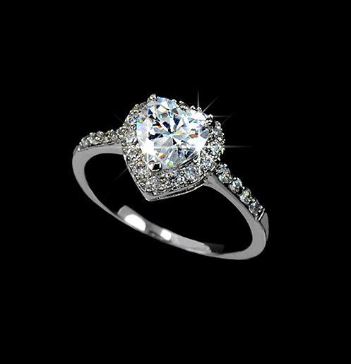 heart cut cubic zirconia engagement ring micro pave wedding ring promise ring heart shaped ring pear ring diamond heart ar0008b - Heart Shaped Diamond Wedding Ring