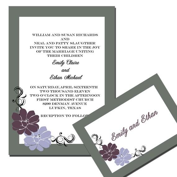 زفاف - Floral Flair Wedding Invitation Suite