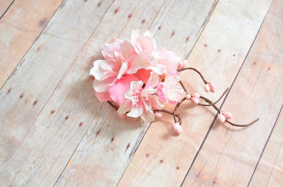 Pink floral clip bridal hair clip wedding head piece pastel pink pink floral clip bridal hair clip wedding head piece pastel pink flower clip hair accessory mightylinksfo
