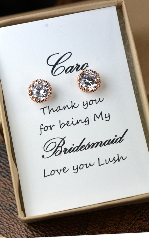 Mariage - Rose Gold Bridal Set -  Bridesmaids Jewelry Set
