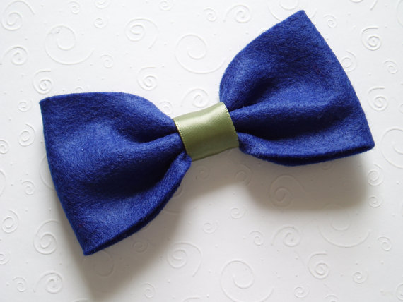 Свадьба - Dog Bow Tie BLUE Collar Attachment doggie bowtie formal wear, Wedding outfit Pet Clothing