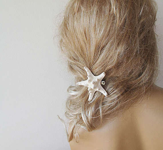 Starfish Hair Accessories Pins Wedding Mermaid Beach Natural