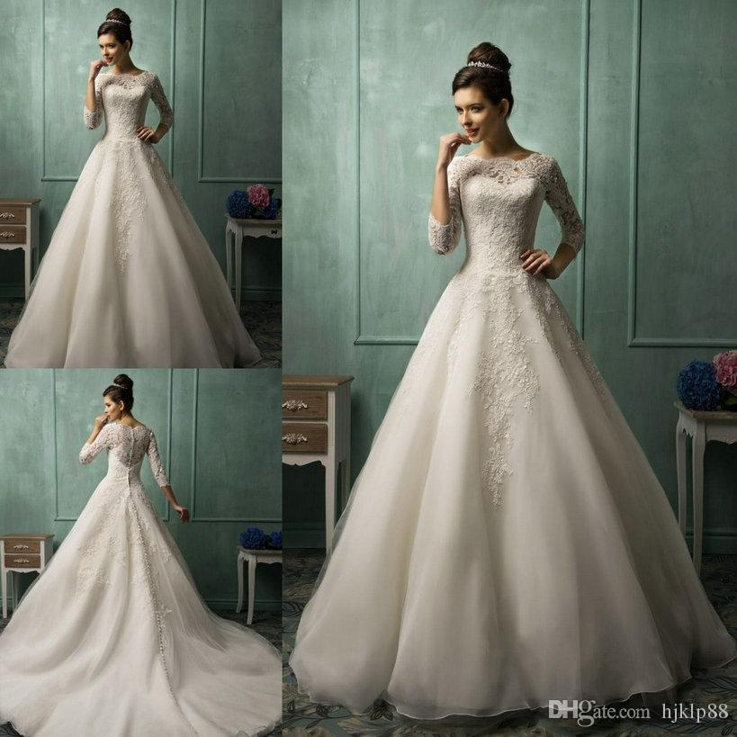 Amelia Sposa Long Sleeve Wedding Dresses For 2015 Spring