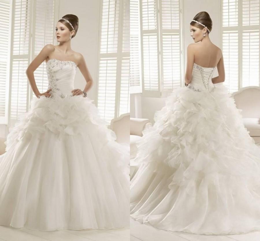 Vestidos de noiva 2015 fashion ball gown sweetheart for Vintage wedding dresses online shop