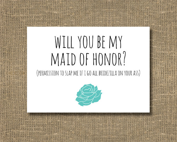 Funny Will You Be My Maid Of Honor / Ask Maid Of Honor, Ask ...