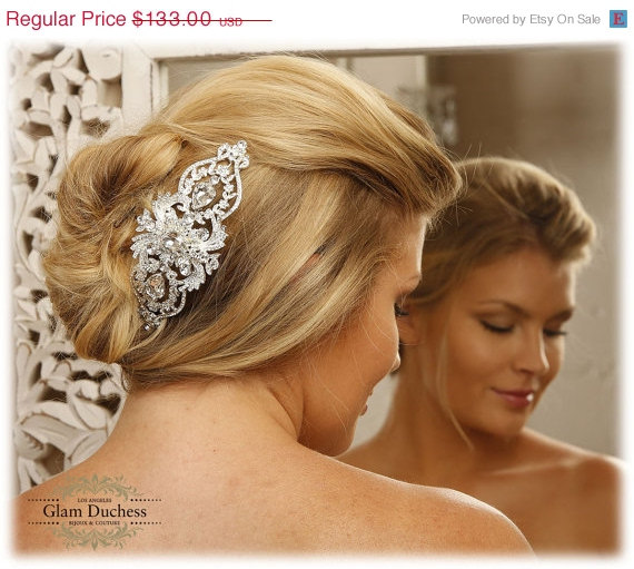 Wedding - Bridal crystal Rhinestone Hair Comb