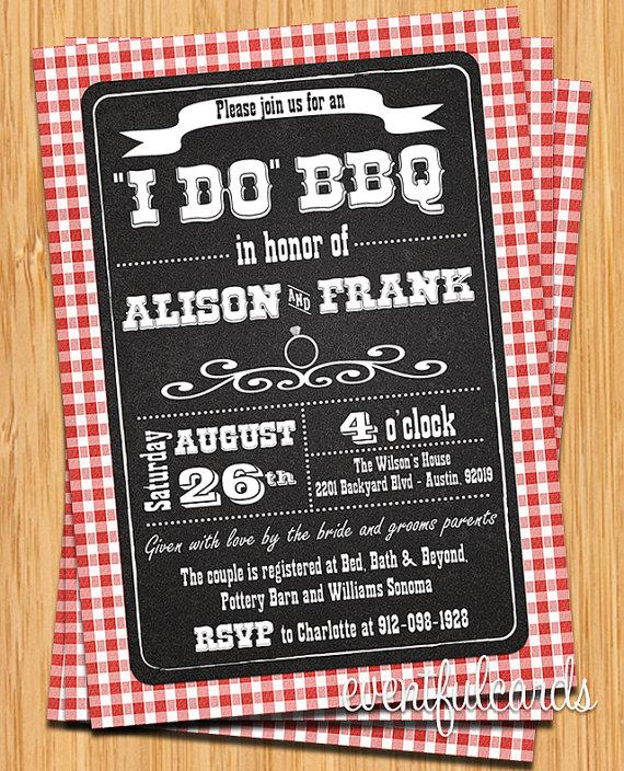 زفاف - I Do BBQ Couple Wedding Shower Invitation