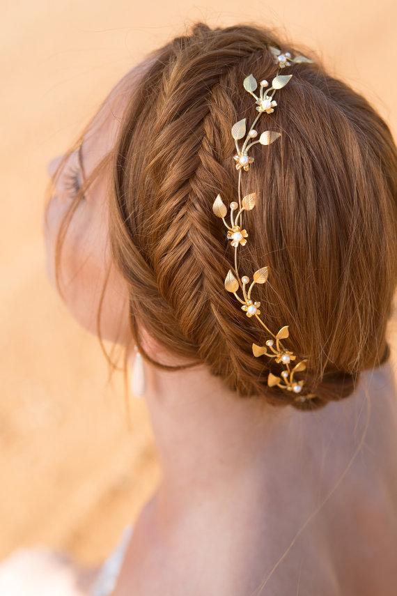 Mariage - wedding bridal tiara , Wedding Hair Accessories ,bridal tiara, greek wedding crown ,Wedding Veils wedding tiara, Bridal hair vine, headpiece