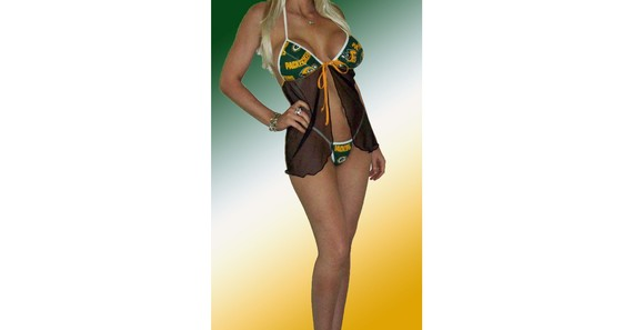 Свадьба - NFL Green Bay Packers Lingerie Negligee Babydoll Sexy Green Teddy Set with Matching G-String Thong Panty