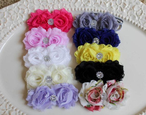 Bridal Headband Shabby Chic Headband Baby Headband Flower Girl Headband White Baby Headband Baptism Headband Christening Headband