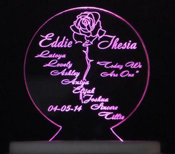 BLENDED FAMILY Rose Wedding Cake Topper