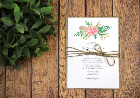 Rustic Wedding Invitations Templates was adorable invitations design