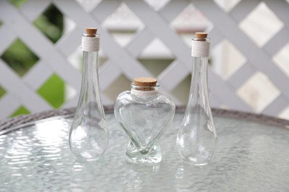 Personalized Heart Or Oval Shape Vase Wedding Unity Sand