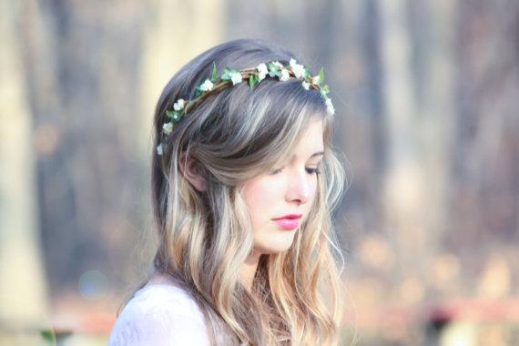 زفاف - wedding accessories, bridal headband, woodland wedding, bridal headpiece, rustic wedding country chic woodland wedding berries halo