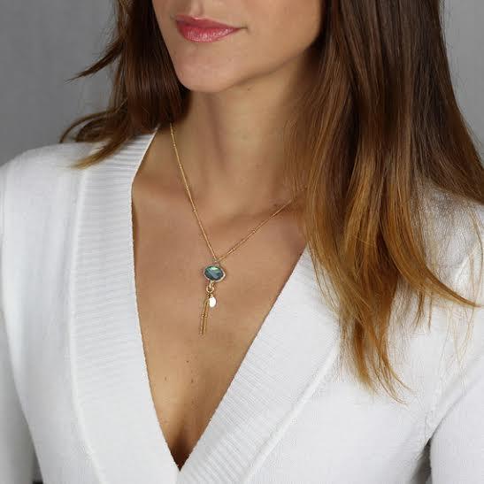Mariage - 14K Gold Filled Labradorite Eye Necklace, Naturl Labradorite, Bezel Set,  Dainty Delicate, Gemstone Necklace, Gift FOR HER