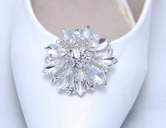 زفاف - A Pair Of Shoe Clips,Gold Shoe Clips,Pearl Crystal Rhinestone Shoe Clips,Wedding Bridal Shoes Clips,Crystal Shoe Clips,Sandal Shoe Clips