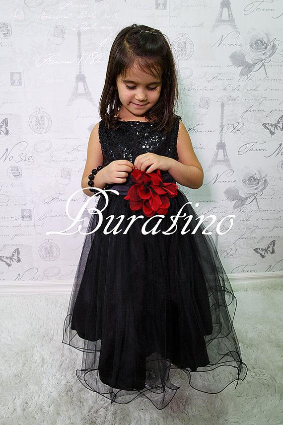 Flower girl dress black sequin double mesh christmas special flower girl dress black sequin double mesh christmas special occasion flower girl dress white red lilac dusty rose ets0155bl mightylinksfo Gallery