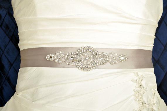 Unique Wedding Dress Sashes Belts: EMMA Crystal And Pearl Wedding Belt, Wedding Sash, Bridal
