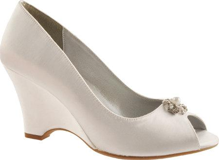 "Свадьба - Wedding Shoes - Bridal Wedge Shoes- PB102.5 Women's 2 1/2"" Wedge Shoes-Custom Hand Dyed"