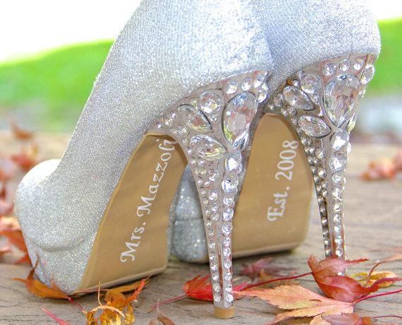 Wedding - Personalized Bride Shoe