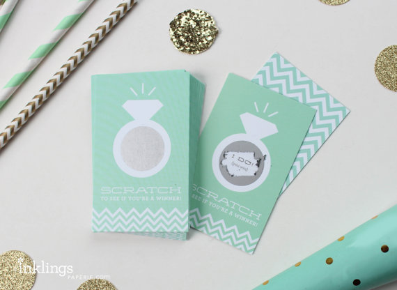 Mariage - Scratch Off Cards for Bridal Shower