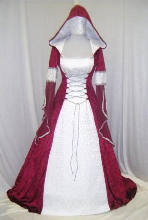 Meval Wedding Dress Renaissance Handfasting Celtic Scottish Widow Hood Custom Made
