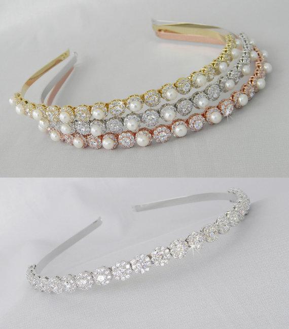d38cc4dfaaaa Simple Crystal Bridal Headband