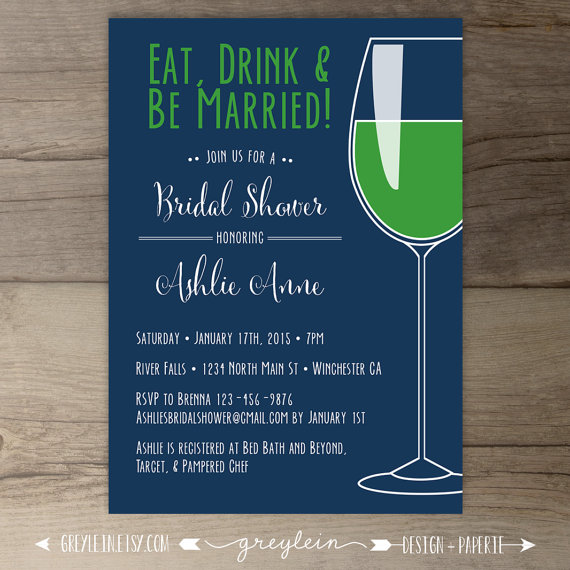 Preppy Bachelorette Party Invitations Eat Drink And Be Married