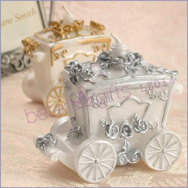 Wedding - Cinderella carriage candle Favors