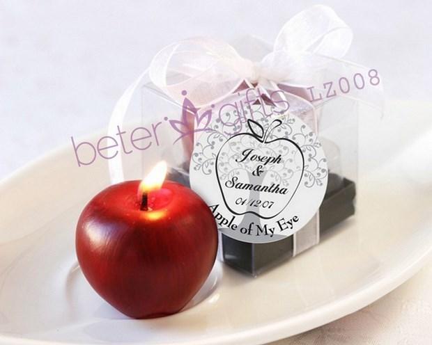 Wedding - 创意婚品 红色小苹果蜡烛,结婚 婚礼小物 喜庆用品LZ008倍乐婚品