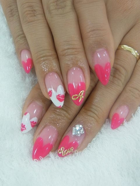 Valentine S Day Stiletto Nails Nail Trends Nail Art 2235622
