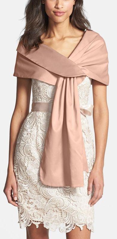 00c29dfb264 Satin Dresses - Women's Adrianna Papell Satin Wrap #2235699 - Weddbook